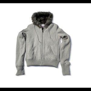 Dear Amanda Bynes Faux Fur Lined Hoodie Jacket